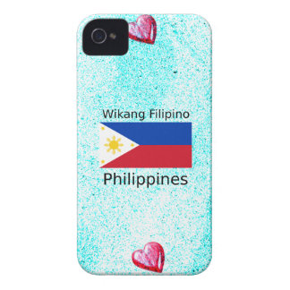 Wikang Filipino Language And Philippines Flag iPhone 4 Case-Mate Case