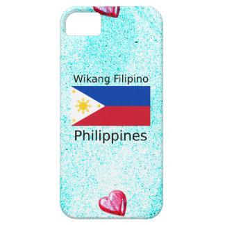 Wikang Filipino Language And Philippines Flag iPhone 5 Case
