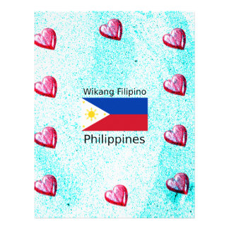 Wikang Filipino Language And Philippines Flag Letterhead