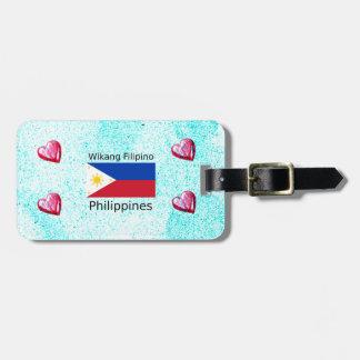 Wikang Filipino Language And Philippines Flag Luggage Tag