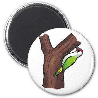 Wilbur Woodpecker 2 Inch Round Magnet