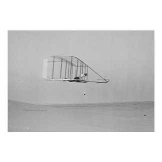 Wilbur Wright in Level Glide Poster