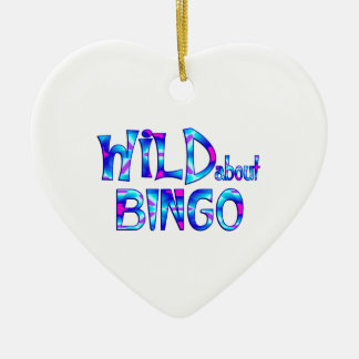 Wild About Bingo Ceramic Ornament