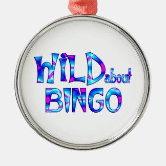 Wild About Bingo Metal Ornament