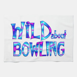 Wild About Bowling Kitchen Towel