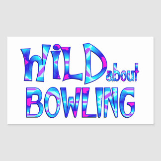 Wild About Bowling Sticker