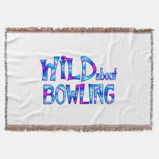 Wild About Bowling Throw Blanket