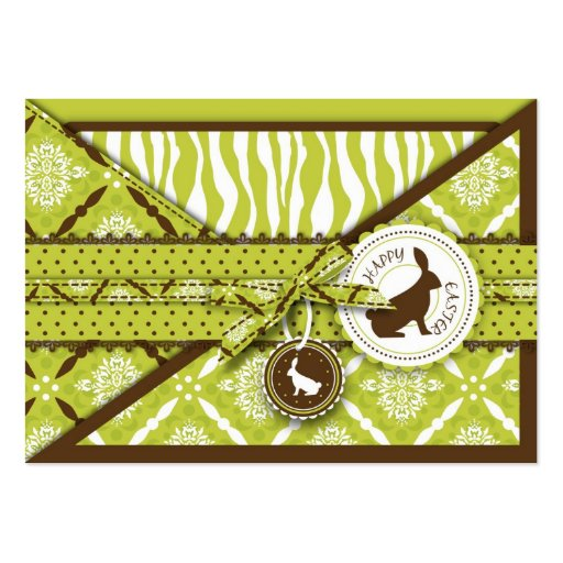 Wild About Bunnies Gift Tag Business Cards