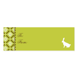 Wild About Bunnies Skinny Gift Tag Mini Business Card
