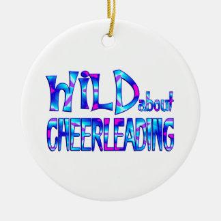 Wild About Cheerleading Ceramic Ornament