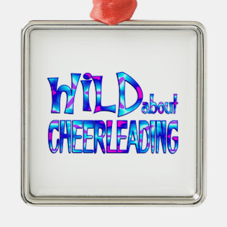 Wild About Cheerleading Metal Ornament