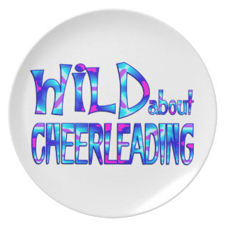 Wild About Cheerleading Plate