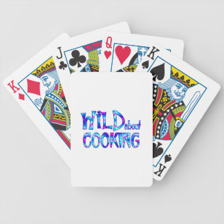 Wild About Cooking Bicycle Playing Cards