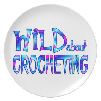 Wild About Crocheting Plate