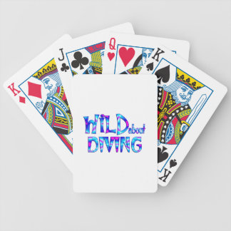Wild About Diving Bicycle Playing Cards