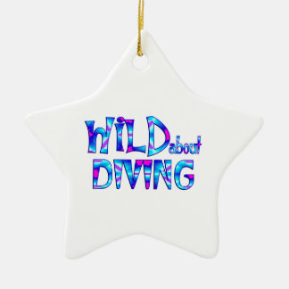 Wild About Diving Ceramic Ornament