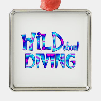Wild About Diving Metal Ornament