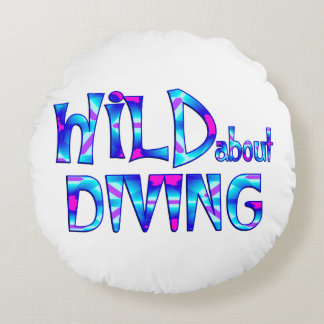 Wild About Diving Round Pillow