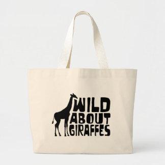 Wild About Giraffes Jumbo Tote Bag