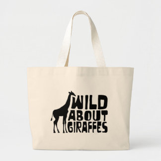 Wild About Giraffes Large Tote Bag