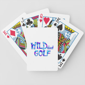 Wild About Golf Bicycle Playing Cards