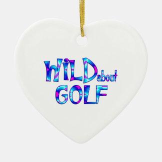 Wild About Golf Ceramic Ornament