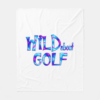 Wild About Golf Fleece Blanket