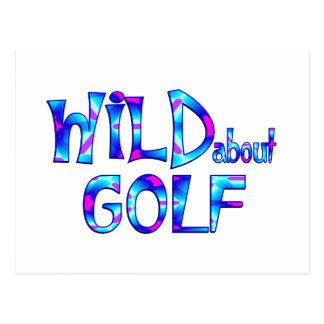 Wild About Golf Postcard