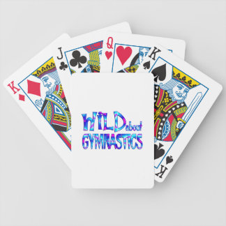 Wild About Gymnastics Bicycle Playing Cards