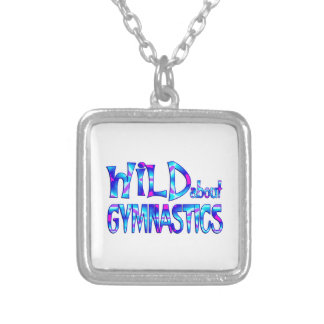 Wild About Gymnastics Silver Plated Necklace