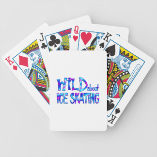 Wild About Ice Skating Bicycle Playing Cards