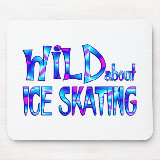 Wild About Ice Skating Mouse Pad