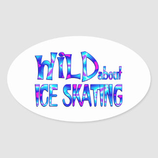 Wild About Ice Skating Oval Sticker