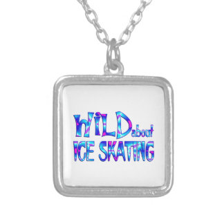 Wild About Ice Skating Silver Plated Necklace