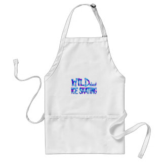 Wild About Ice Skating Standard Apron