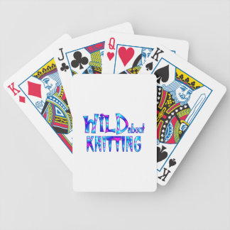 Wild About Knitting Bicycle Playing Cards