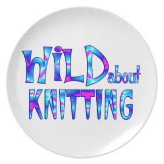 Wild About Knitting Plate