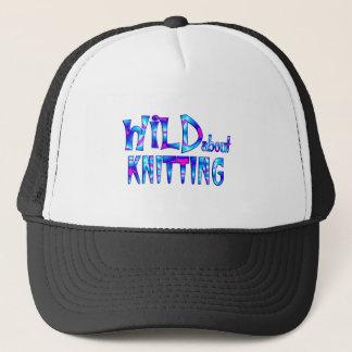 Wild About Knitting Trucker Hat