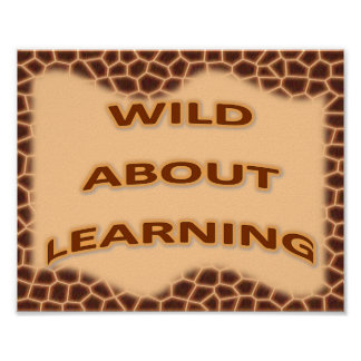 Wild About Learning Poster