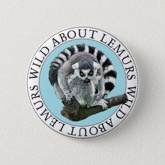Wild About Lemurs 2 Inch Round Button