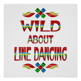 Wild About Line Dancing Poster
