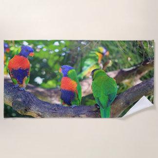 Wild About Parrots Beach Towel