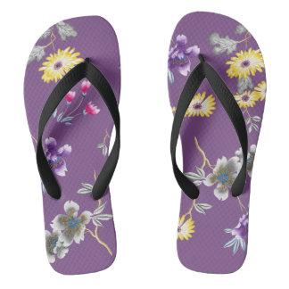 Wild About Purple Flip Flops
