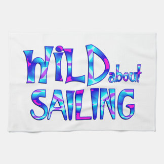 Wild About Sailing Kitchen Towel