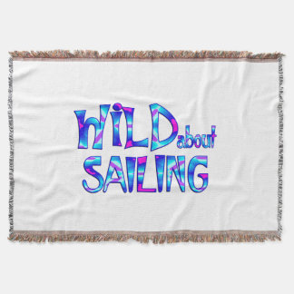 Wild About Sailing Throw Blanket