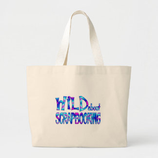 Wild About Scrapbooking Large Tote Bag