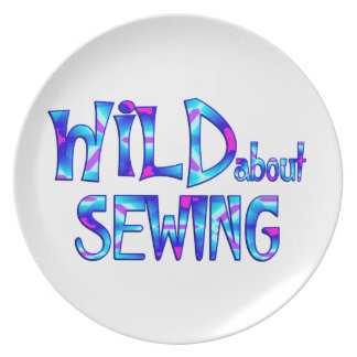 Wild About Sewing Plate