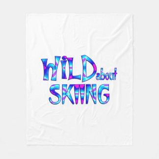Wild About Skiing Fleece Blanket