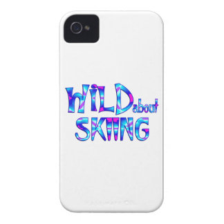 Wild About Skiing iPhone 4 Cover