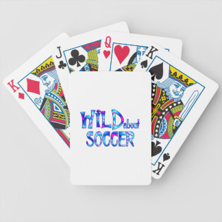 Wild About Soccer Bicycle Playing Cards